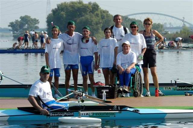 la squadra italiana di adaptive rowing